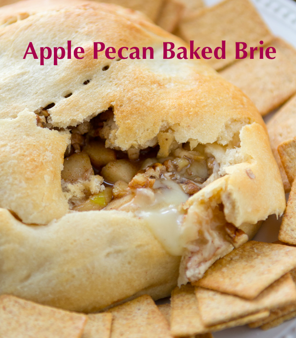 Apple pecan baked brie